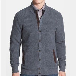 Peter Millar Sweaters - Peter Millar | Wool Blend Cardigan W/Elbow Patch